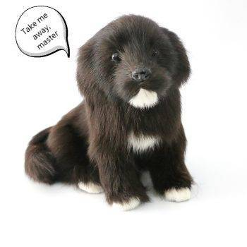 Black Puppies Statues, Cute Border Collie/Labrador/Spaniel Dog Plush Toys, Gift For Children 1
