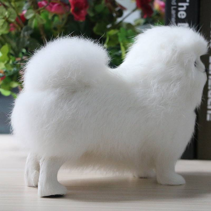 Plush animal simulation cute little lion dog leather hair simulation animal children toy gift home decoration photography props
