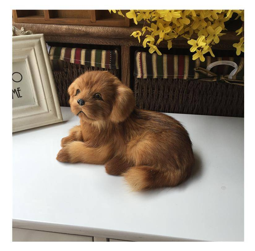 Plush toy simulation dog leather hair simulation Golden Retriever dog crafts home decoration children's educational toys gifts