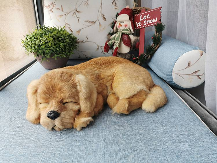 Simulated Cute Sleeping Dog Home Car Desktop Photography Props Decor Toy Gift Stuffed Animal Doll Kids Shop Decoration gifts