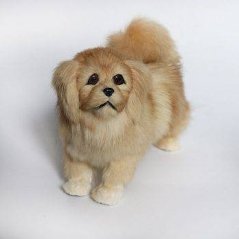 Simulation poodle Jingba dog plush toy large doll animal dog model doll home decoration dog model 1