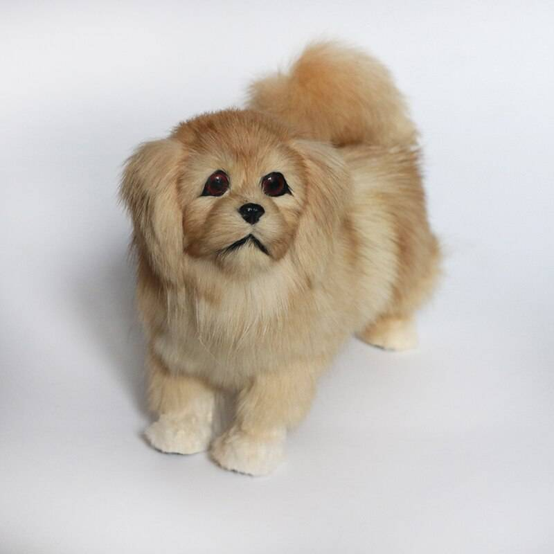 Simulation poodle Jingba dog plush toy large doll animal dog model doll home decoration dog model