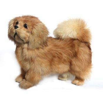 Simulation poodle Jingba dog plush toy large doll animal dog model doll home decoration dog model 4