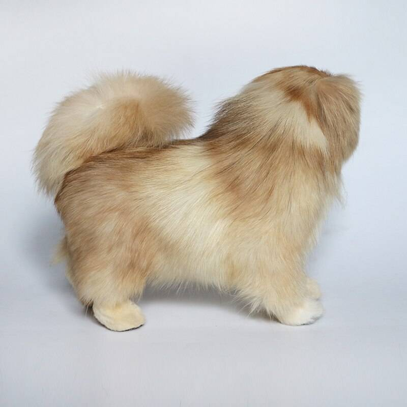 Dog Fur Working Animal Stuffed Pekingese/Poodle/ Beige