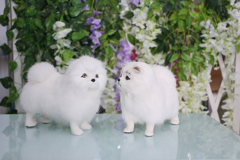Pomeranian Dog Petal Fur Small to Medium-sized Stuffed Toy – Papillon Puppy