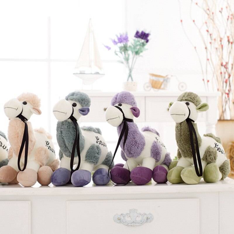 Camel Plush Toy For Kids – Cute Green/Gray/Purple Camel Stuffed Animals For Home Decor, Gift Ideas