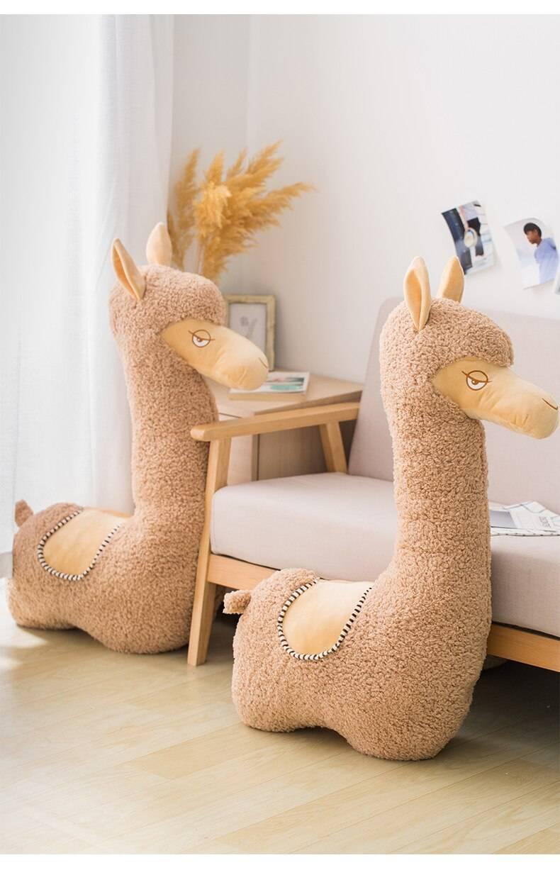 Alpaca Plush Soft Llama Giant Appa Stuffed Animal Plush Toys Cartoon Japanese Sheep Kawaii Home Decor Girl Kids Birthday Gifts