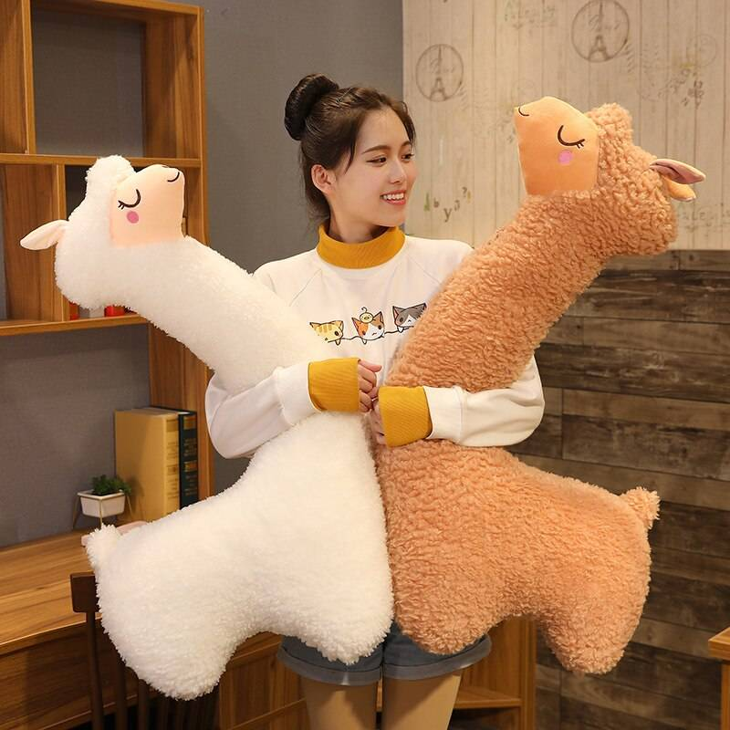 Alpaca Plush Toys Soft Stuffed Vicugna Pacos Japanes Animal Cute Alpacasso Llama Doll Valentines Day Gifts For Girls Kids