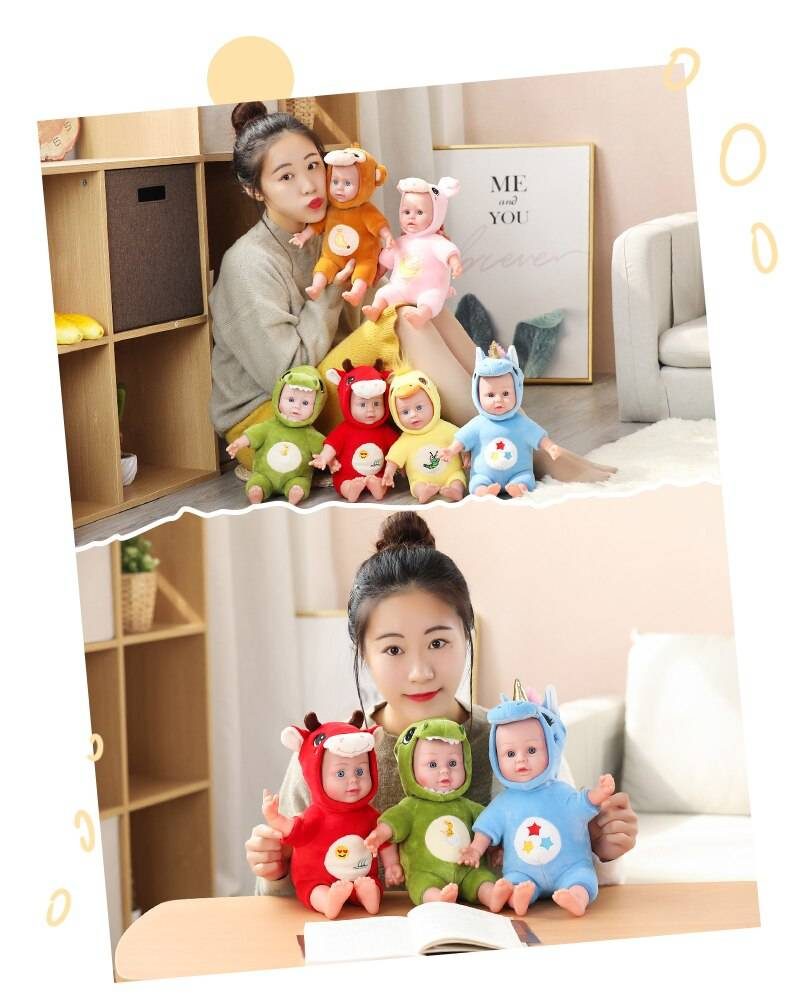 Baby Toys Soft Plush For Girls Cute Simulation Pillow Stuffed Animal Infant Companion Doll Valentines Day Gifts For Kids