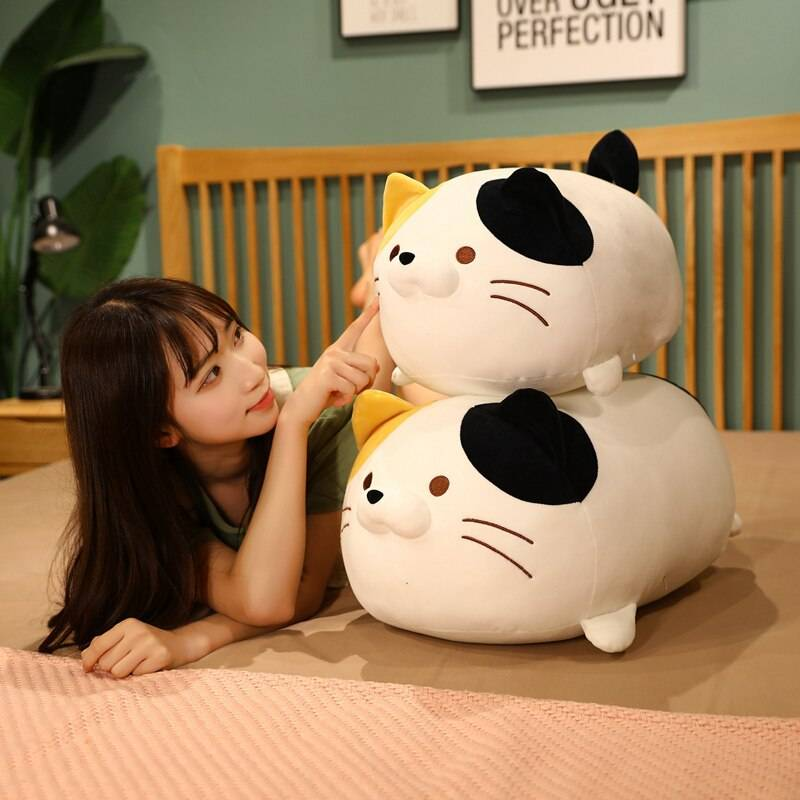 Cat Toys Stuffed Animals Plushie Anime Dog Pillow Soft Cute Cushion Home Decor Doll Birthday Gift For Girls Kids