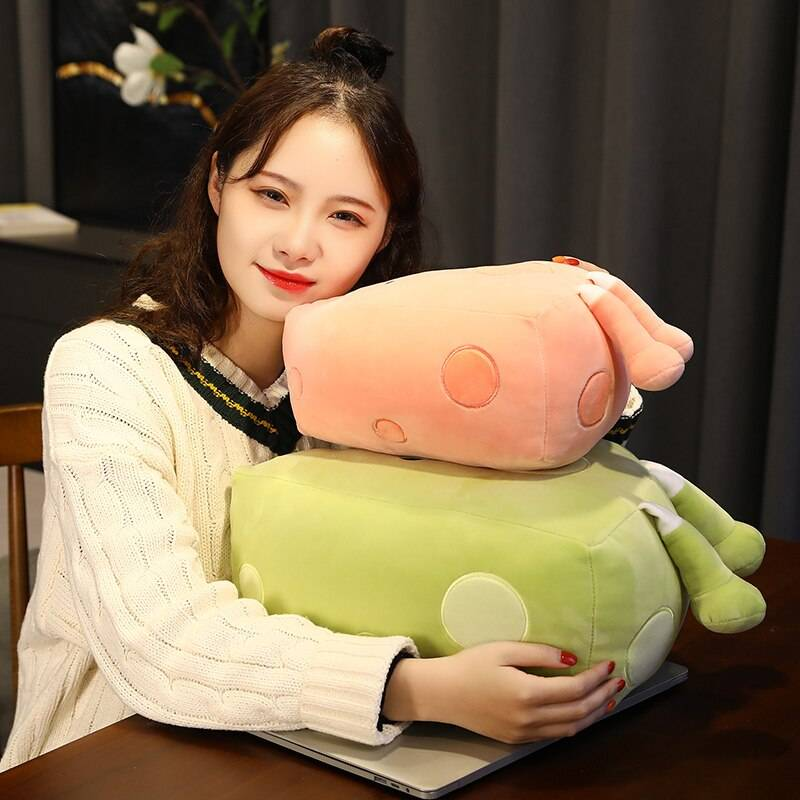Cheesy Pillow Plush Toys Soft Alfredo Stuffed Mozzarella Doll Cartoon Cheese Birthday Valentines Day Gifts For Girls Kids