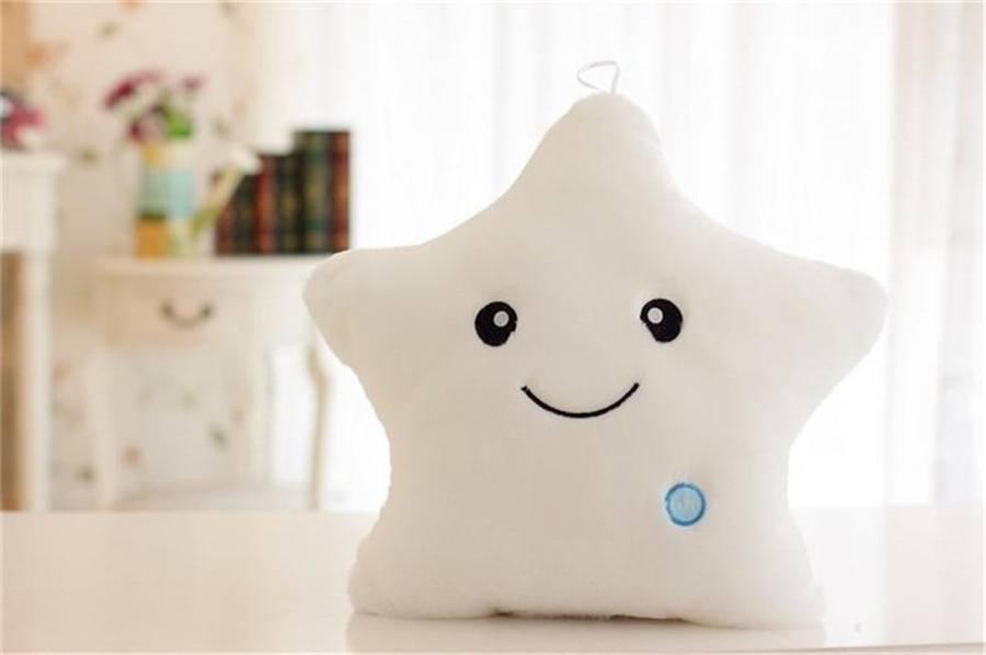 Creative Toy Luminous Pillow Soft Stuffed Plush Glowing Colorful Stars Cushion Led Light Toys Gift For Kids Children Girls