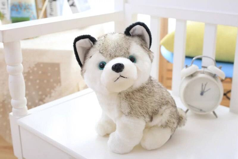 Cute Simulation Plush Toy Husky Doll Simulation Dog Toy Cute Puppy Children Toy Doll Comfort Gift