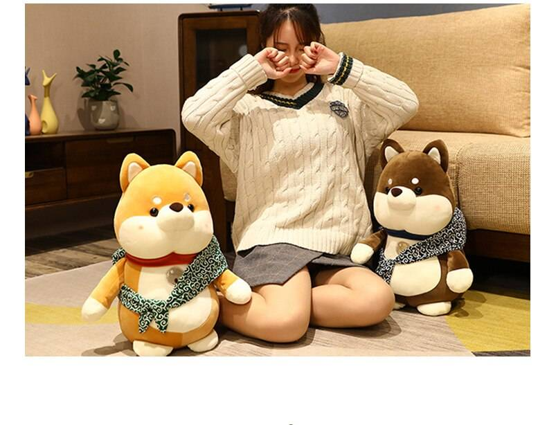 Dog Plush Toys Stuffed Soft Shiba Inu Cartoon Doll Animal Crossing Sleep Cushion Home Decor Birthday Gifts For Girls Kids