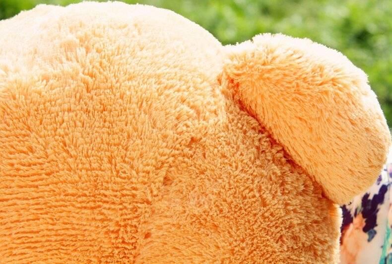 Giant Teddy Bear Plush Toys For Girls Stuffed Doll Soft Big Unstuffed Empty Bear Skin Semi-finish Valentines Day Gift For Kids