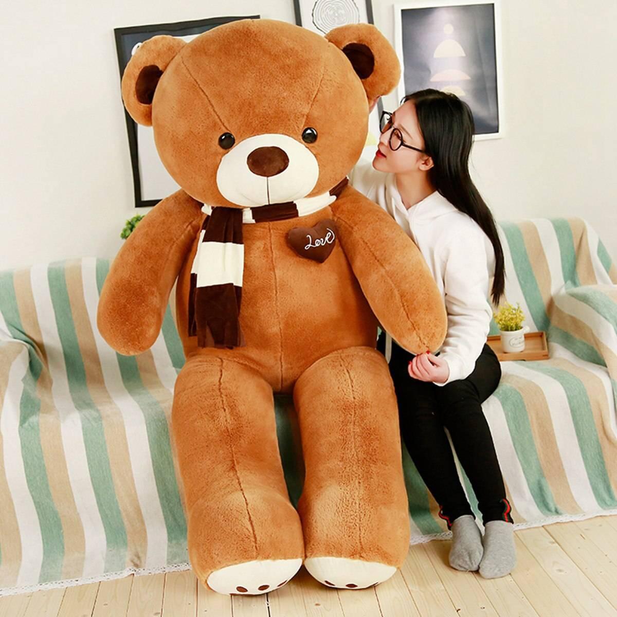 Teddy Bear Plush Toys Stuffed Animals Soft Big Heart Bear Yesbear Pillow Birhday Valentines Day Gifts For Girls Kid