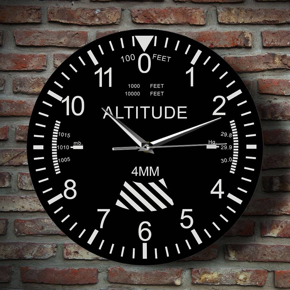 Altimeter Wall Clock Tracking Pilot Airplane Altitude Measurement Modern Wall Watch Classic