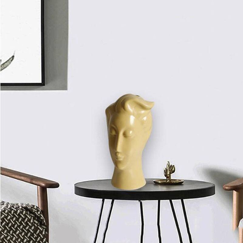 Ceramic Vase Nordic Home Decoration Flower Pots Living Room Decoration Modern Abstract Human Face Sculpture Statue Ornaments