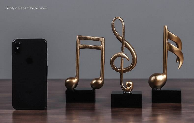 Home Decoration Music Note Crafts Wine Cabinet Decoration Art Resin Sculpture