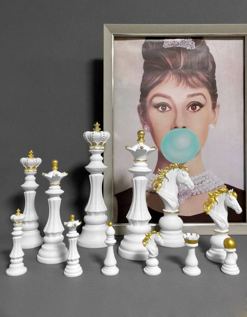 Resin Chess Figurines Home Decoration Accessories International Chess Statue